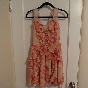 Pink knee length dress